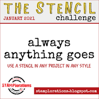 STAMPlorations January Stencil Challenge